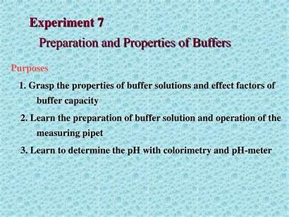 Preparation Properties Buffers Experiment Buffer Presentation Ppt