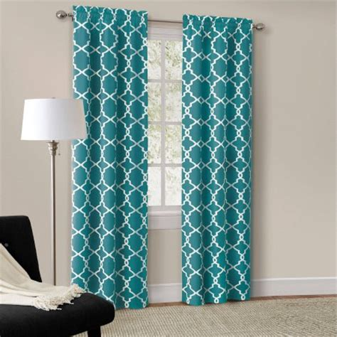 teal blackout curtains walmart mainstays calix fashion window curtain set of 2 walmart