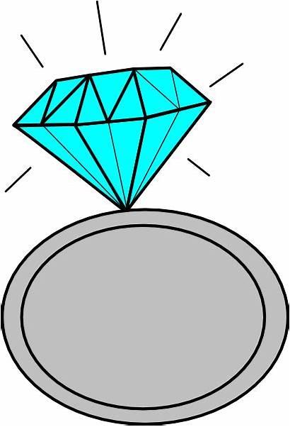 Ring Bling Diamond Clip Clipart Vector Cartoon