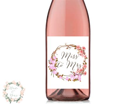 personalized wine label decorations bridal shower decor