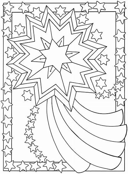 Coloring Moon Stars Pages Printable Colouring Sun