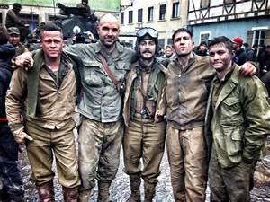 FURY Images. FURY Stars Brad Pitt, Shia LaBeouf, Logan ...