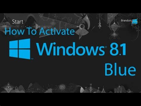 how to activate windows 8 1 blue