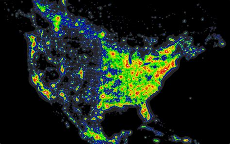 pollution map maps best place to stargaze brightest cites darkest Light