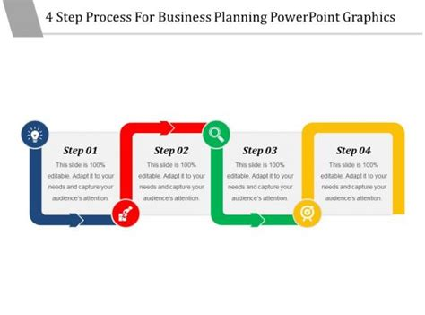 step process  business planning powerpoint graphics