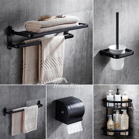 Bathroom Sets by 5 Black Rubbed Bronze Bathroom Accessories Set