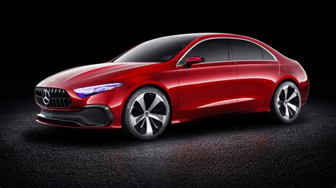 Mercedes BenzCar : 2018 Mercedes-benz A-class Sedan Concept Revealed