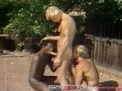 outdoor interracial threeway and voyeur classic 80s gay