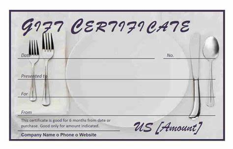 Gift Cards Give The Fine Present restaurant gift certificate