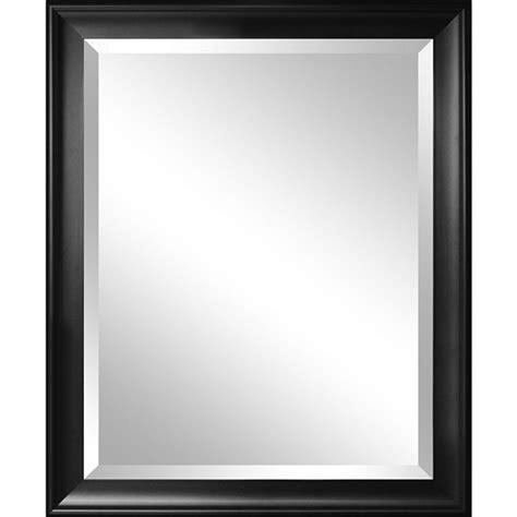 Bathroom Mirrors Black Frame by Beveled Glass Bathroom Wall Mirror With Black Frame 34 X