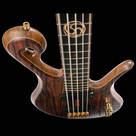 The Custom Bass Guitar Body From The Top With Fretboard