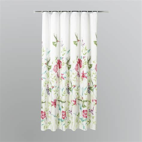 Shower Curtain Drapes by Essential Home Hummingbirds Fabric Shower Curtain Shop
