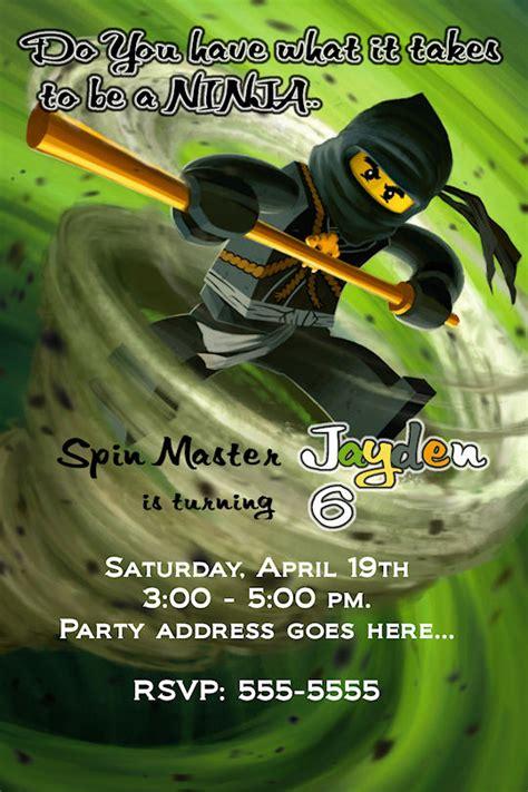 ninjago invitation printable ninjago birthday party