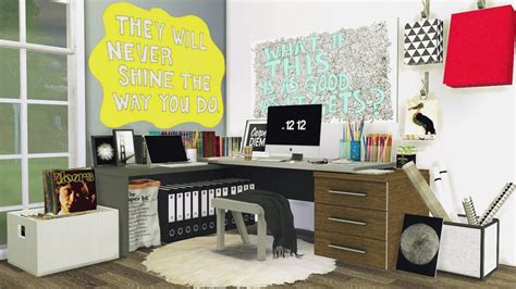 Mxims Office 5 Corner Workspace Sims 4 Updates ♦