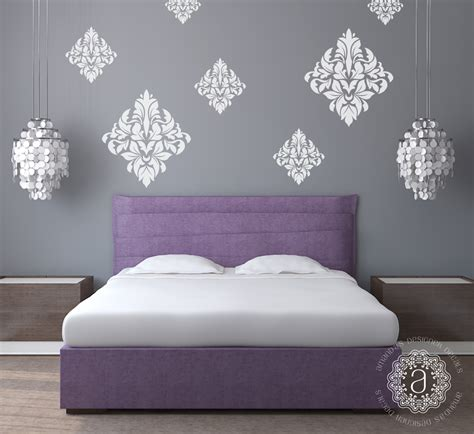 damask wall decals wall decals  bedroom
