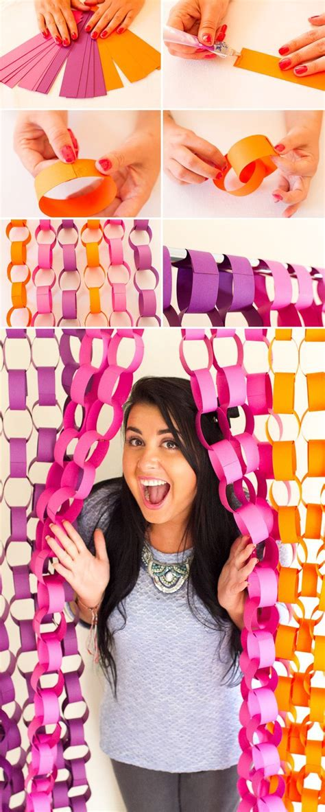 Diy Photo Booth Background Ideas by Diy Paper Chain Photo Booth Backdrop Tutorial Diwali