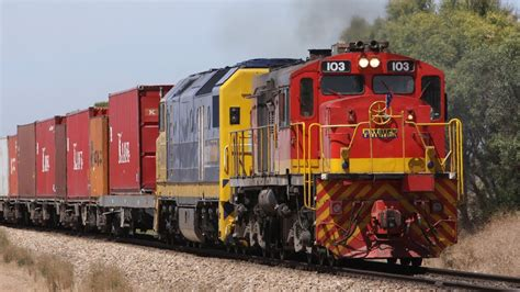 Freight Trains At Two Wells, South Australia