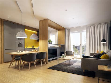 salon cuisine moderne amenagement design salon cuisine