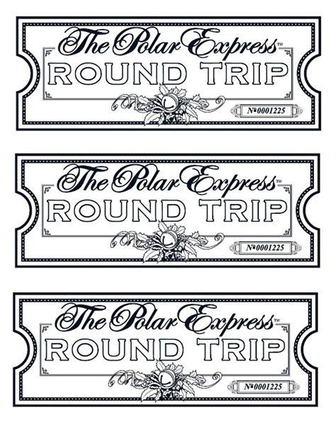festive polar express ticket printables kittybabylovecom