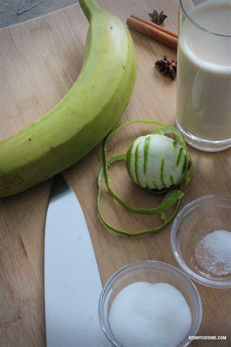 cuisine banane plantain la bouillie de bananes plantain quot labouyi bannann quot kedny