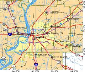 Shelby County TN Map