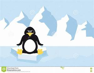 Pingouin Sur La Banquise : pingouin de bande dessin e sur une banquise illustration de vecteur illustration du seul ~ Melissatoandfro.com Idées de Décoration