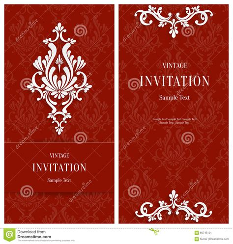 Vector Red Floral 3d Background Template For Christmas Or