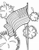 Flag American Coloring Pages Usa Site Fireworks Background Raskrasil sketch template