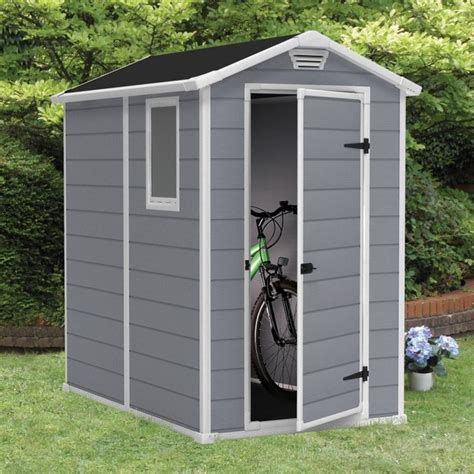 keter manor 4 x 6 ft storage shed multicolor 212917