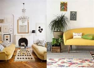20 salons avec un canapé jaune - Joli Place