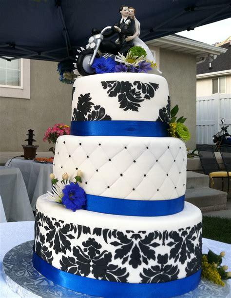 Wedding Cake Royal Blue And Black   ogvinudskillelse.website
