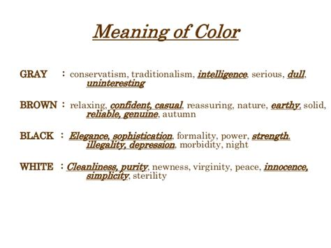 the color grey meaning colors