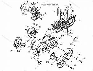 Polaris Atv 2004 Oem Parts Diagram For Crankcase   Cb