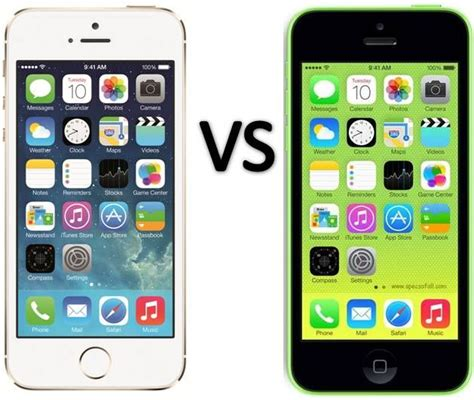 iphone 5s and 5c compare apple iphone 5s vs iphone 5c read later