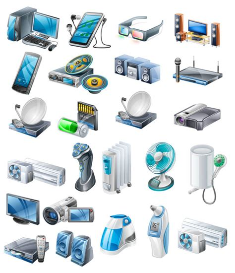 computer vector icon appliances icons 3d battery el para need utensilien control vcd