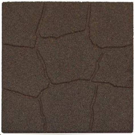 envirotile 18 in x 18 in flagstone earth rubber paver