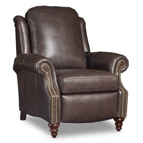 bradington hobson leather recliner in brown