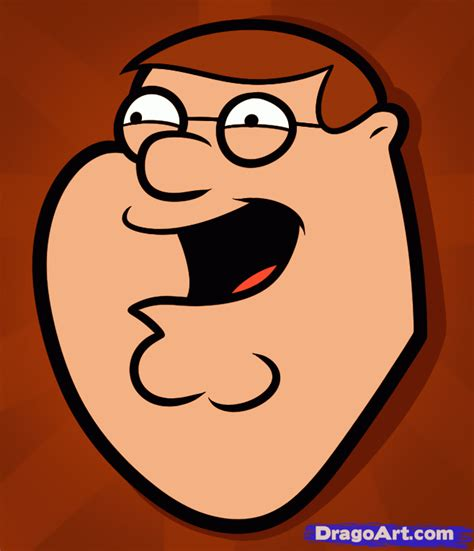 draw peter griffin easy step  step cartoons