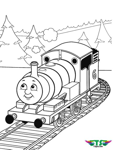 thomas  tank engine train coloring page tsgoscom