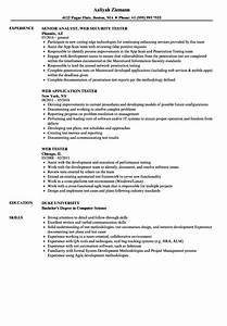 web tester resume samples velvet jobs With web application security sample resume