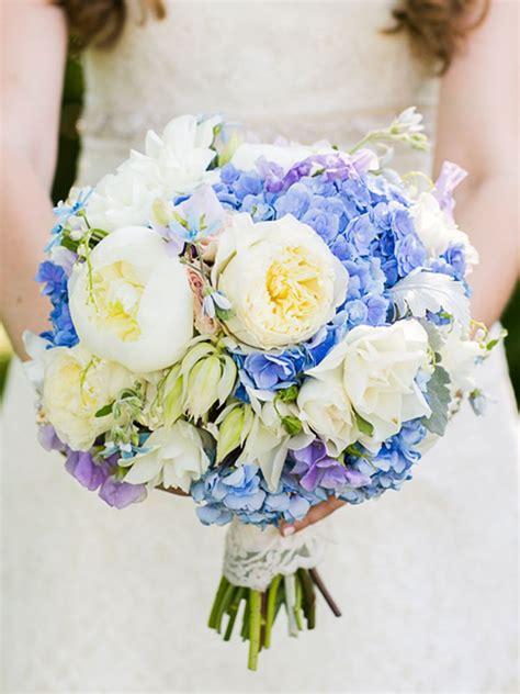 blue wedding flowers   gorgeous blue bouquets