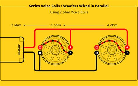Subwoofer Series Parallel Wiring Diagram by Mono A 2 Wire Diagram For Subs Wiring