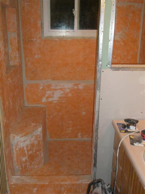 kerdi shower first stab at the kerdi shower system tiling contractor talk