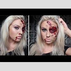 Burnt & Bloody Sfx Makeup ♡ Halloween Tutorial  Liquid Latex Youtube