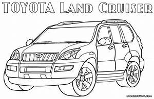 toyota coloring pages coloring pages to download and print With toyota land cruiser