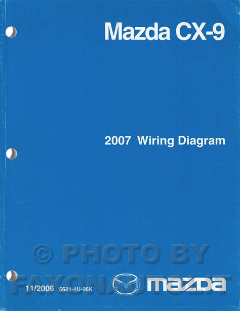 2007 mazda cx 9 wiring diagram manual original