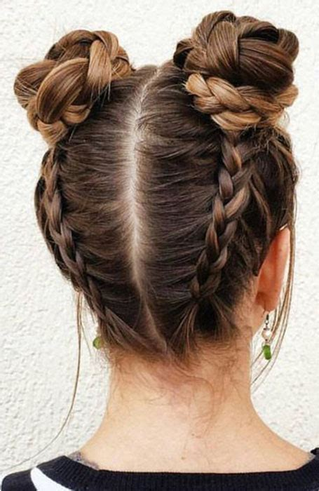 stylish bun hairstyles      copy