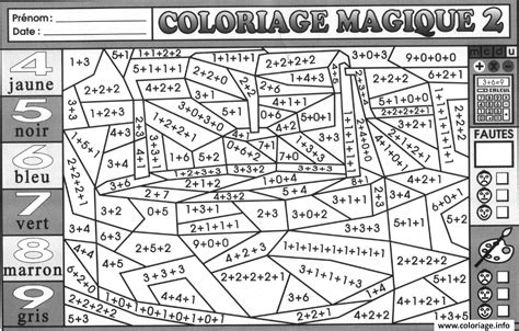 coloriage magique addition  dessin