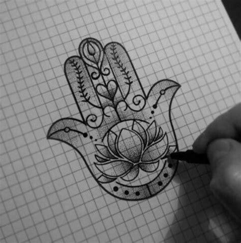 lotus hamsa tattoo     incorporate  om symbol