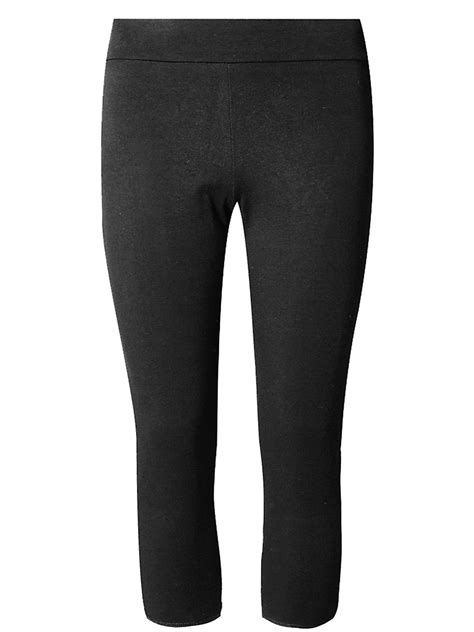 Marks and Spencer - - M&5 BLACK Cotton Rich Cropped